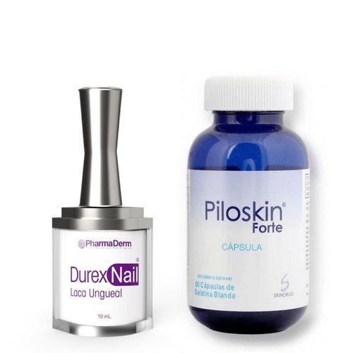 Kit endurecedor de uñas  Piloskin Forte + Durexnail Laca